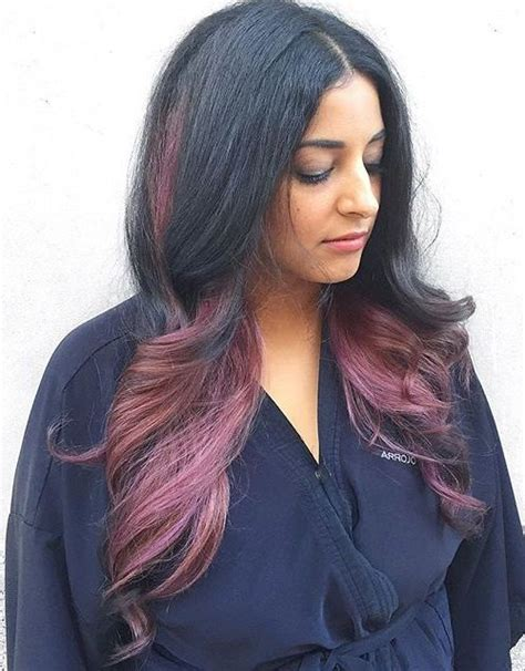 black and hair color styles top balayage hairstyles for black hair