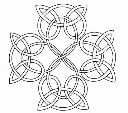 Celtic Coloring Pages Knot Mandala Cross Printable