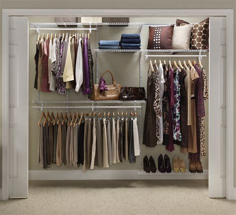 Adjustable Closet Organizerwhite Color5 To 8 Feet