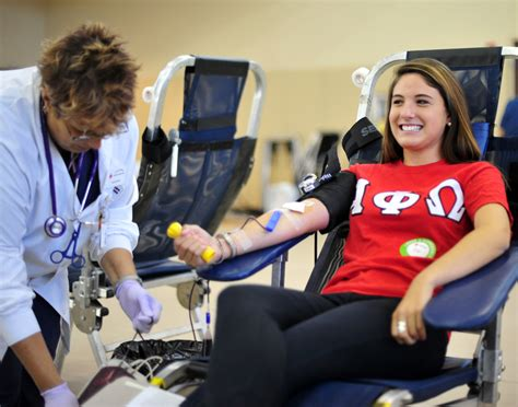 hpu collects  pints   blood drive   year