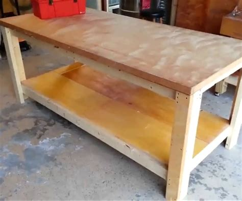 how to make a work table how to build a sturdy workbench inexpensively 5 steps