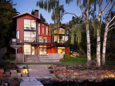 Contemporary hillside home designed for family living on