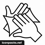 Hands Drying Icon Symbol sketch template