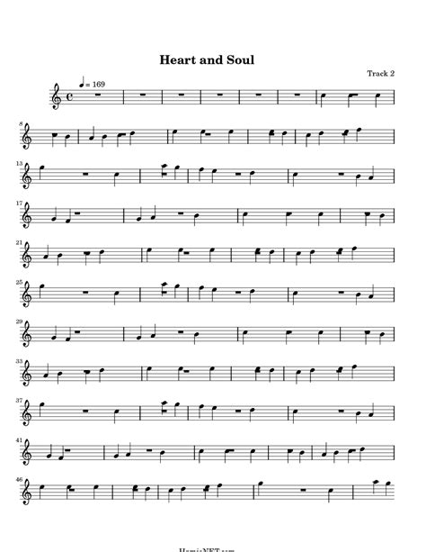 Free sheet music preview of heart and soul for voice, piano or guitar by hoagy carmichael. Heart and Soul Sheet Music - Heart and Soul Score ...