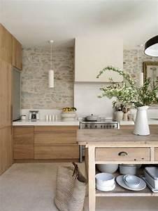 Deco Cuisine Bois : la cuisine blanche et bois en 102 photos inspirantes ~ Melissatoandfro.com Idées de Décoration