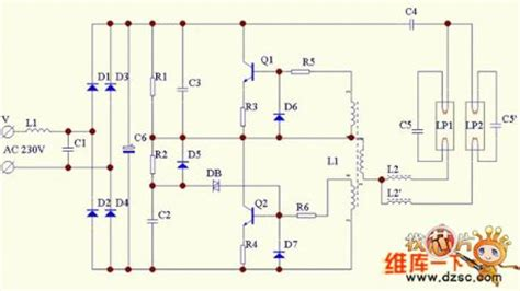 Double Barrelled Energy Saving Lamp Circuit Diagram Led