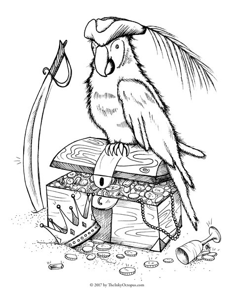 parrot coloring page parrot free coloring pages