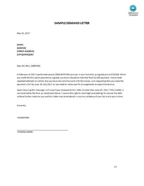 debt collection demand letter sample mamiihondenkorg