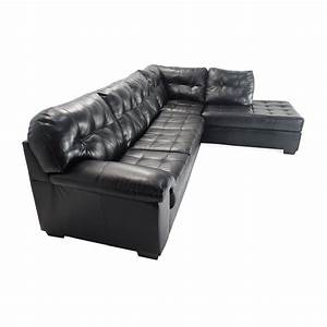 Elegant sectional sofa black faux leather sectional sofas for Small spaces sectional sofa black faux leather
