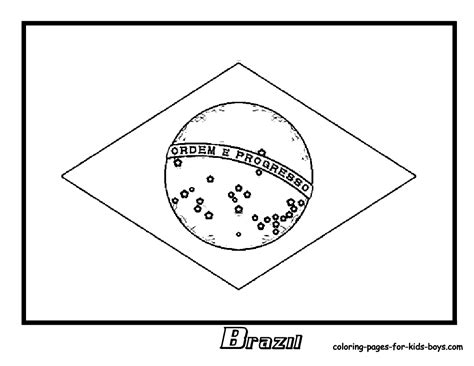 Flags Of The World Cup Colouring Pages