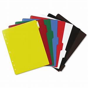 Write-On Tab Plastic Dividers w/White Labels by Avery ...