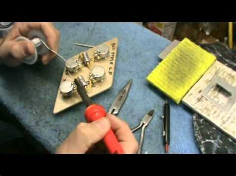 diy video soldering up a 50s style les paul wiring harness by jonesyblues com youtube