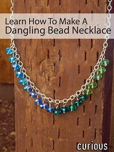 how to make a dangling bead necklace curious