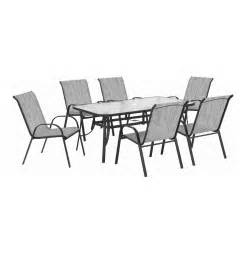 terrace leisure 220x140x95 cm manor 7 textilene patio set beige lowest prices specials