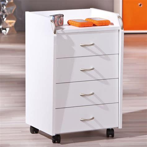 caisson tiroirs bureau caisson de bureau 4 tiroirs quot quot blanc
