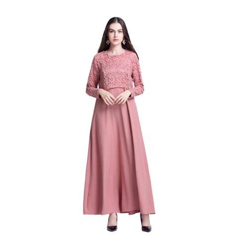 moslem maxi muslim kaftan abaya jilbab sleeve lace hollow islamic maxi dress us ebay