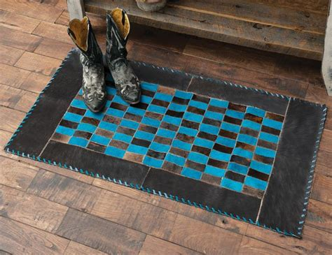 Dyed Cowhide Rugs by Southwest Rugs Turquoise Dyed Cowhide Rug Lone