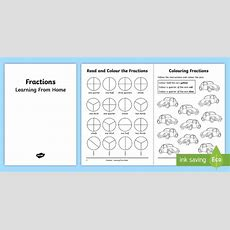 Year 2 Fractions Learning From Home Maths Activity Booklet  Learning From