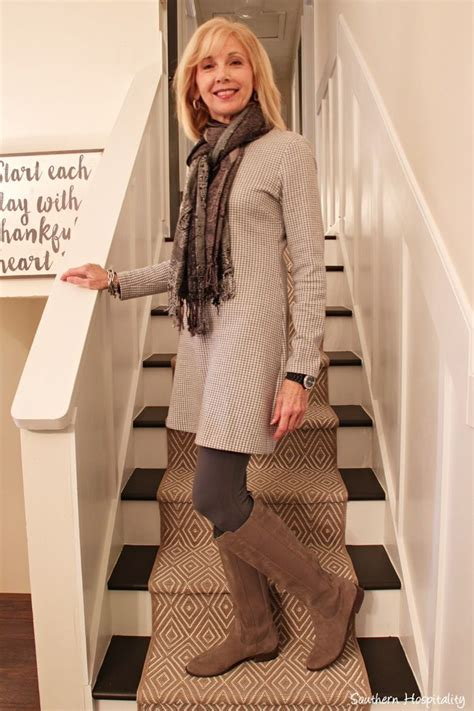 Fashion Over 50 Sweater Dresses And Boots Fashion Over