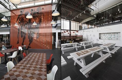 wonderful canteen design  cool hangout place