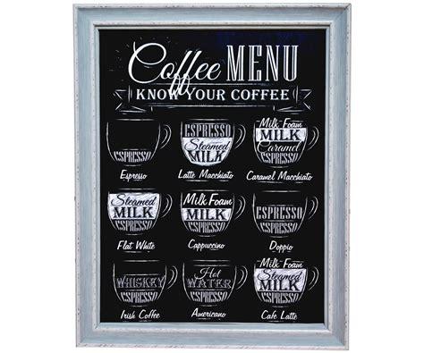 meuble cuisine bistrot tableau toile cadres imprimé ardoise affiche pub rétro