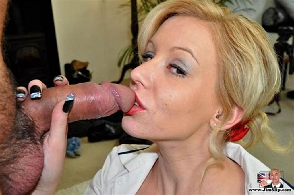 #Short #Hair #Blonde #Sucks #Jims #Cock #Before #H