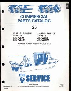 1991 Omc    Johnson    Evinrude 25 Hp Outboard Parts Manual