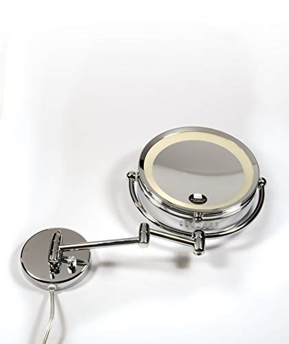 danielle creations chrome revolving wall mounted lighted