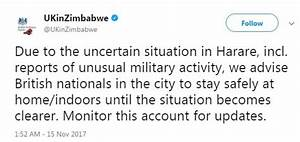 Embassy in Zimbabwe warns UK citizens to stay indoors ...