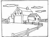 Coloring Farm Scene Animal Horse Sheets Barn Farms Drawings Bestcoloringpagesforkids Drawing Google Colorir sketch template