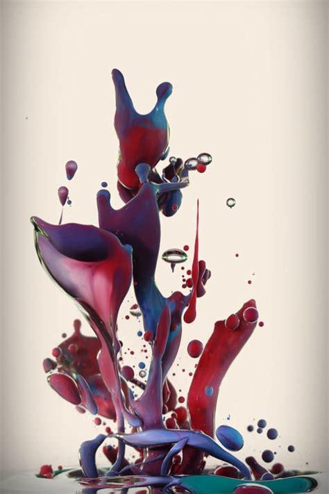 amazing high speed photography  paint splashing  water