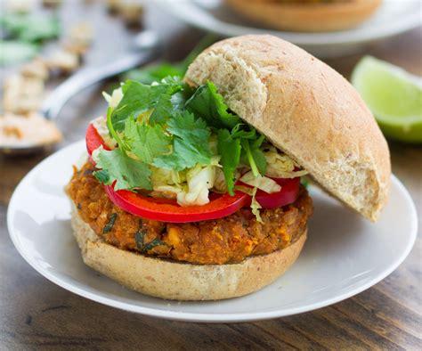 garden burger recipe spicy thai peanut veggie burgers recipe food republic