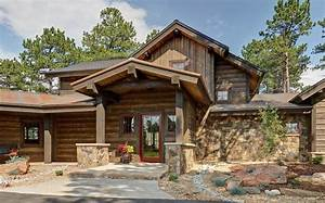 Rustic Mountain Homes Family Room Craftsman With