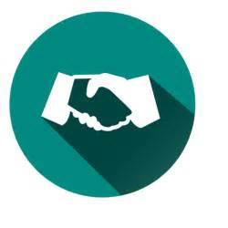 Circle Handshake Icon