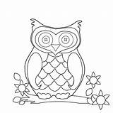 Owl Coloring Pages Cartoon sketch template