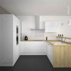 cuisine blanche ikea ordinary cuisine mobalpa prix With kitchen colors with white cabinets with papier bulle leroy merlin