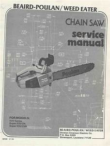 Poulan Xxv 25a Chainsaw Workshop Downloadable Pdf Service