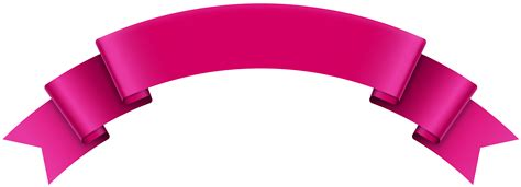 banner pink transparent png clip art image ideias