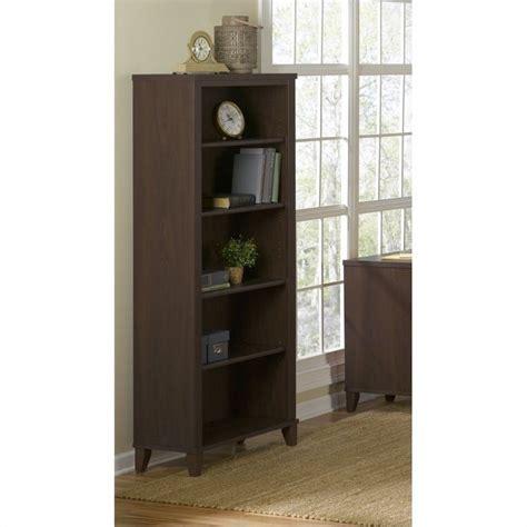 Bush Bookcases by Bush Furniture Somerset 5 Shelf Bookcase In Mocha Cherry