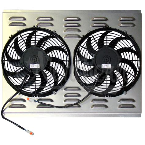 dual electric fans with shroud northern factory dual 11 quot electric fan shroud 17 1 2