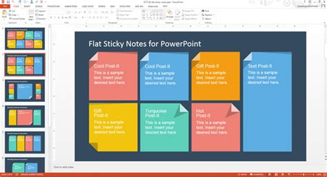design  template   add custom sticky notes
