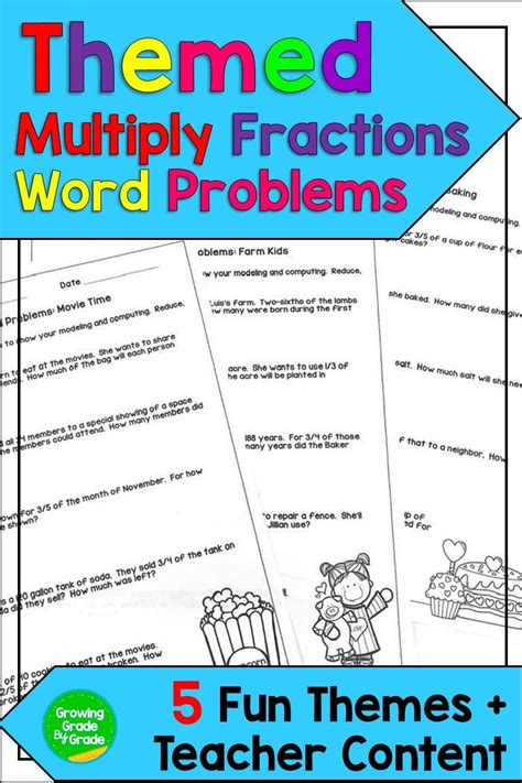 multiply fractions word problems themed