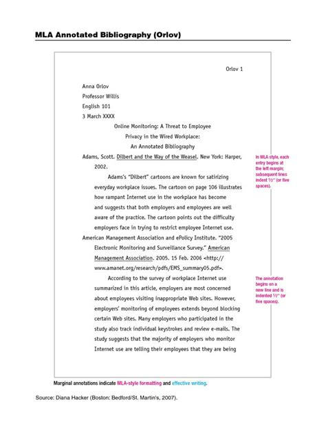 mla format annotated bibliography google search mla
