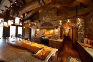 beautiful log home interiors beautiful log home kitchen country living