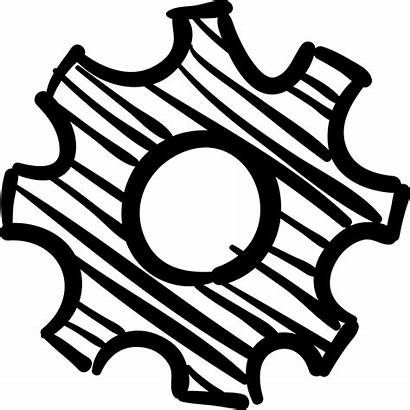 Gear Icon Sketch Svg Configuration Icons Hand