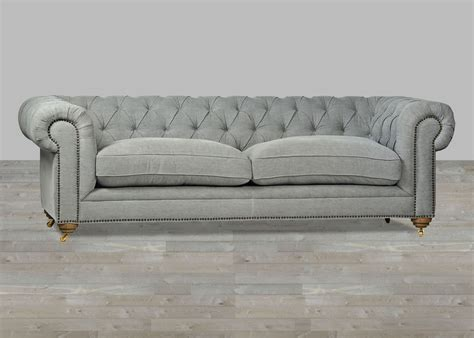 grey leather chesterfield sofa upholstered sofa grey chesterfield style button tufted