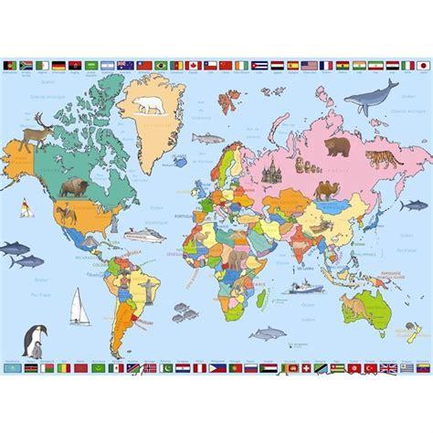 carte du monde enfant carte du monde 250 pi 232 ces achat vente puzzle cdiscount