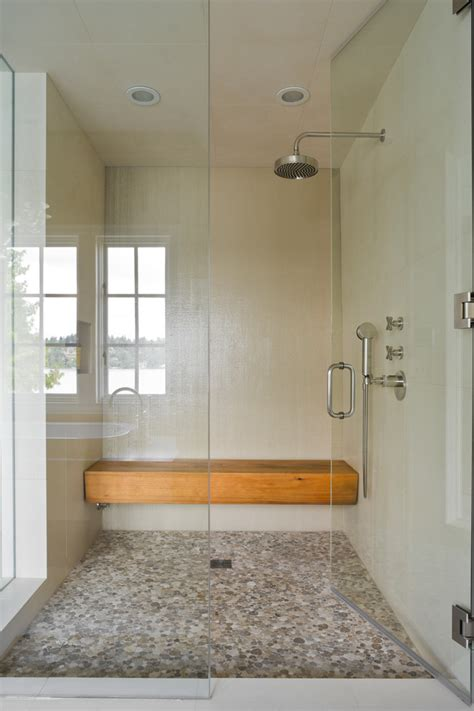 Shower Bench Height Bathroom Contemporary With Double