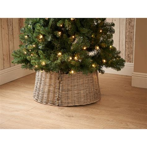 wicker christmas tree skirt natural decorations bm