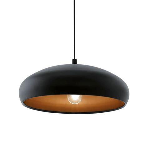 eglo black and copper mogano 1 pendant light lighting